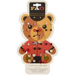 FAO SCHWARZ Girls Teddy Bear 20-pc. Earrings Set