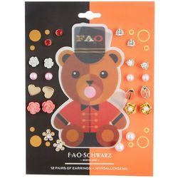 FAO SCHWARZ Girls Teddy Bear 12-pc. Earrings Set
