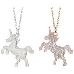 FAO SCHWARZ Girls 2-pc. Unicorn Pendant Necklace Set