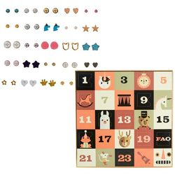 FAO SCHWARZ Girls Advent Calendar Earrings Set