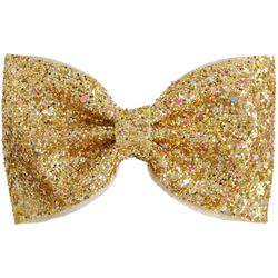 FAO SCHWARZ Girls Gold Tone Glitter Metallic Hair Clip