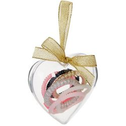 FAO SCHWARZ Girls 8-pc. Coil Hair Ties & Heart Ornament