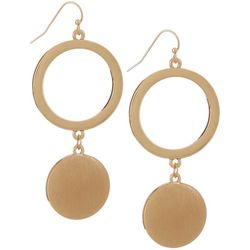 Daisy Fuentes Ring & Satin Disc Drop Earrings