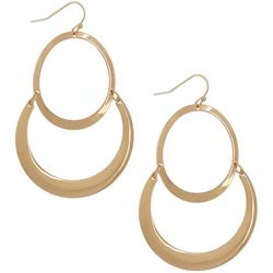 Daisy Fuentes Double Scallop Statement Earrings