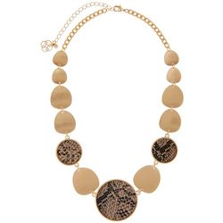 Daisy Fuentes Snake Print Statement Necklace