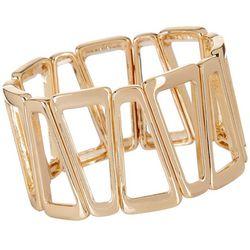 Daisy Fuentes Open Triangle Link Stretch Bracelet