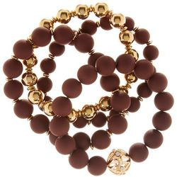 Daisy Fuentes 4 Pc Burgundy Stretch Bracelet Set
