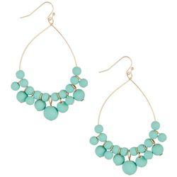 daisy fuentes Multi Mint Beaded Teardrop Earrings