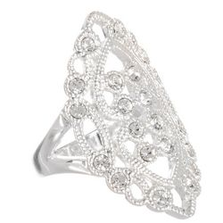 City by City Filigree Silver Tone Ring