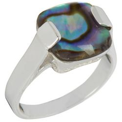 City by City Square Abalone Shell Ring