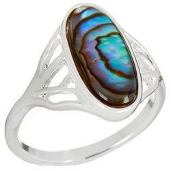 City by City Oval Abalone Shell Ring