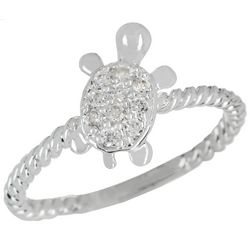 City by City Crystal Elements Turtle Ring