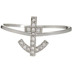 City by City Pave Crystal Elements Anchor Ring