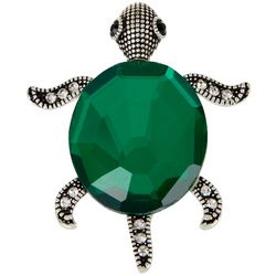 City by City Green Rhinestone Turtle Ring