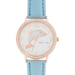 Tackle & Tides Womens Glitter Dolphin Blue Watch