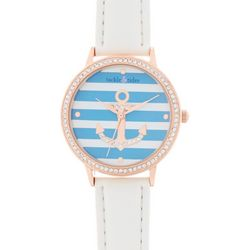 Tackle & Tides Womens Anchor Rose Gold Tone Watch