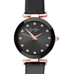 Jessica Simpson Womens Rhinestone Dial  Navy Strap Watch