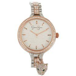 Jessica Simpson Womens Pave Jaguar Charm Bracelet Watch