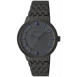 Geoffrey Beene Mens Sapphire Chip Gunmetal Tone Watch