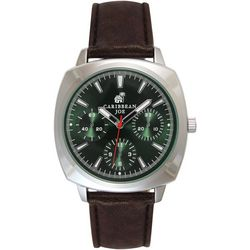 Caribbean Joe Mens  Emerald Square Face Watch