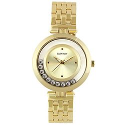 Ellen Tracy Womens Floating Rhinestone Watch
