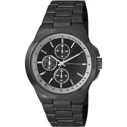 Geoffrey Beene Mens Gunmetal Chronological Watch