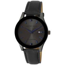 Geoffrey Beene Men's Gunmetal Sapphire Watch