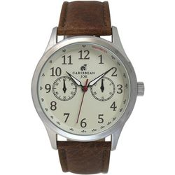 Caribbean Joe Mens White Face Watch