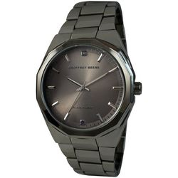 Geoffrey Beene Mens Gunmetal Grey Watch
