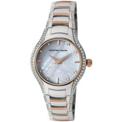 Geoffrey Beene Womens Two Tone Bezel Wave Watch