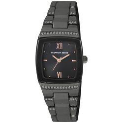 Geoffrey Beene Womens Roman Numeral Gunmetal Watch