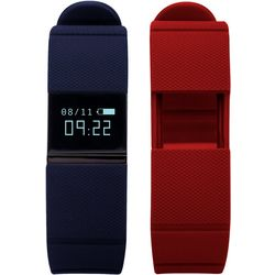 iTouch iFitness Navy Blue & Red Activity Tracker Smartwatch