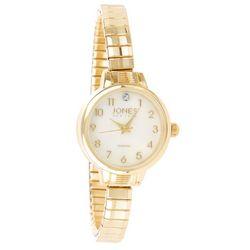 Jones New York Womens Gold Tone Analog Watch