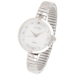 Jones New York Womens Diamond Round Numbered Analog Watch