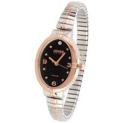 Jones New York Womens Diamond Oval Multi Tone Analog Watch