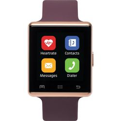 iTouch Air 2 Rose Gold Tone & Merlot Red Smartwatch