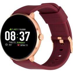 iTouch Sport Rose Gold Tone Merlot Red Smartwatch