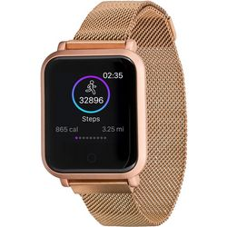 iTouch Air 2s Rose Gold Tone Mesh Band Smartwatch