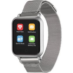 iTouch Air 2s Silver Tone Mesh Band Smartwatch