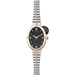 Jones New York Oval Diamond Two Tone Stretch Watch