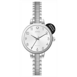 Jones New York Silver Tone EZ Read Stretch Watch