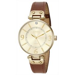Jones New York Womens Gold Tone Watch