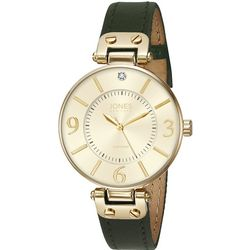 Jones New York Olive & Gold Tone Strap Watch