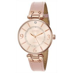 Jones New York Rose Gold & Pink Strap Watch