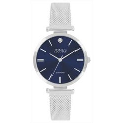 Jones New York Diamond Blue Face Mesh Band Watch