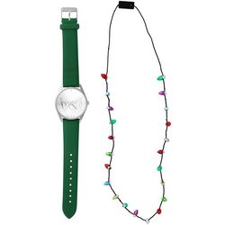 Bay Studio Holiday Merry Watch & Necklace Set