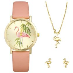 Bay Studio Flamingo Watch & Jewelry Box Set