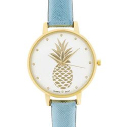 Bay Studio Womens Pineapple Metallic Strap Watch
