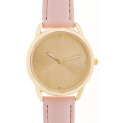 Bay Studio Womens Coastal Face Design Pastel Strap Watch