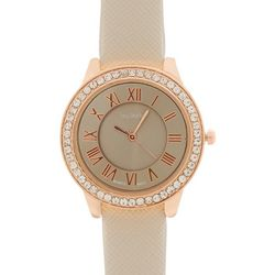 Bay Studio Womens Roman Numeral Rose Gold Tone Watch